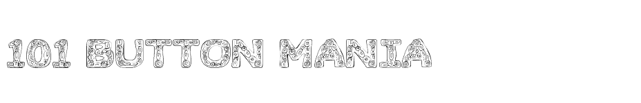 font 101! Button Mania download