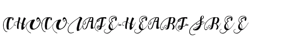 font Chocolate-Heart-Free download