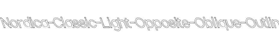 font Nordica-Classic-Light-Opposite-Oblique-Outline download